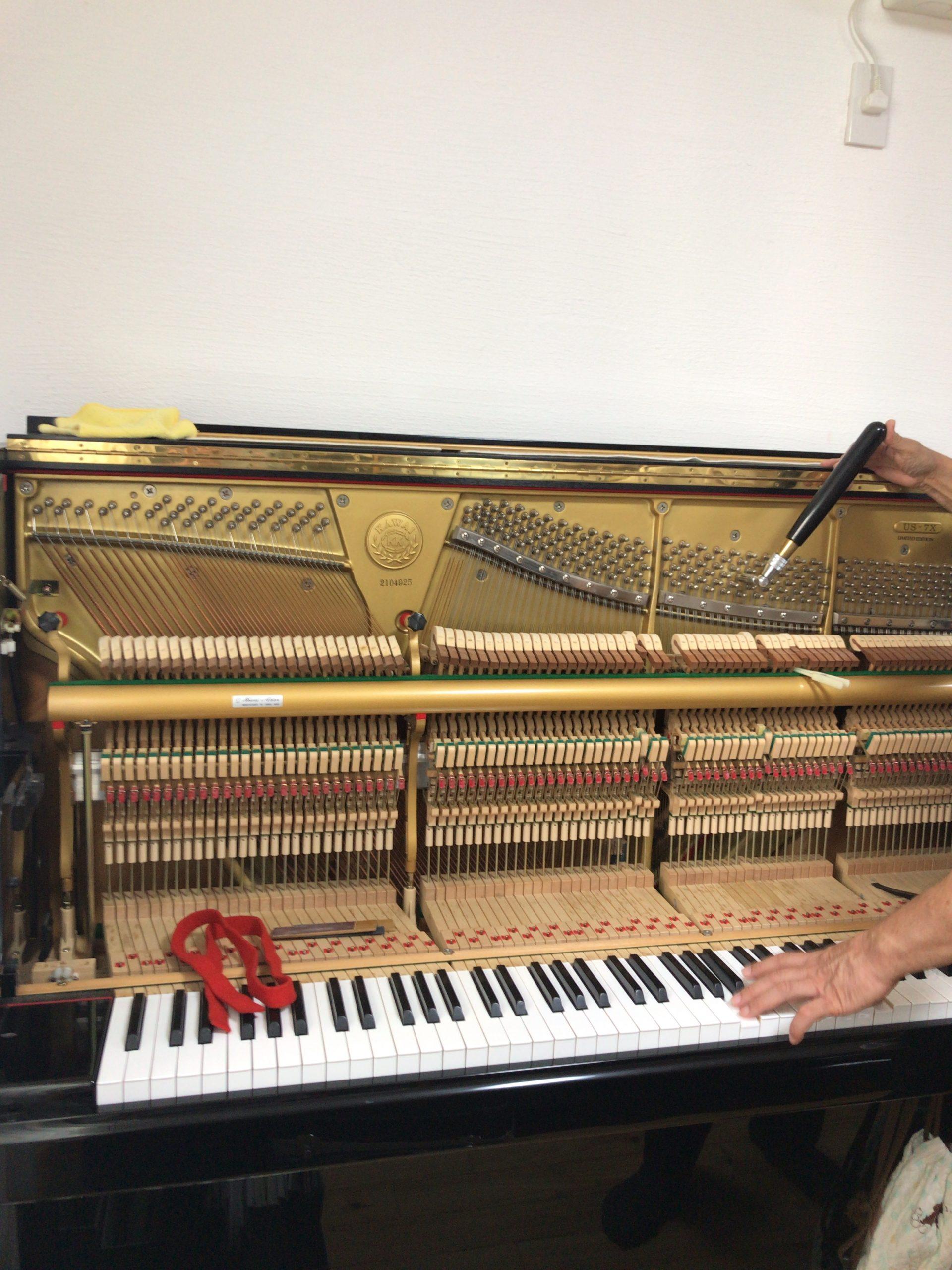 ピアノの調律、アップライトピアノ